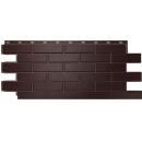 Фасадные панели Nordside Гладкий кирпич Темно-коричневый