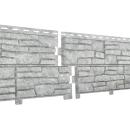 Фасадные панели Ю-пласт Сланец Стоун хаус Светло-серый