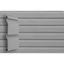 Виниловый сайдинг Grand Line Корабельный брус Серый