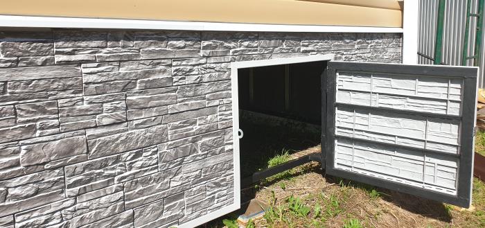 Отделка цокольной части дома фасадными панелями