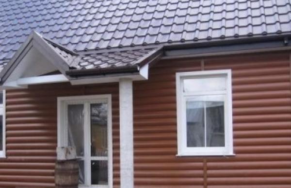 Альта-Профиль Блок хаус Красно-коричневый