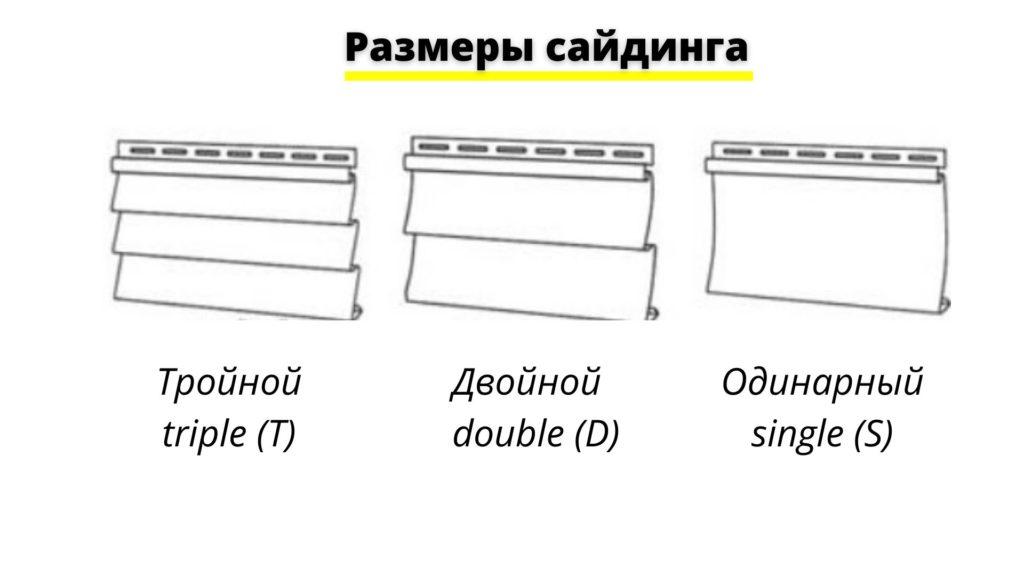 Сайдинг для дома - размеры панелей