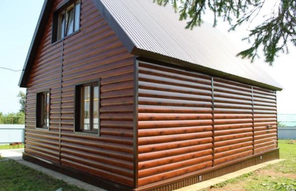 Металлический сайдинг для дома - блок хаус