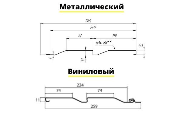Чертежи металлического и винилового сайдинга для дома