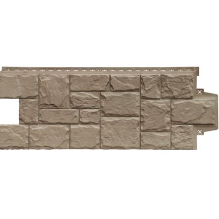 Фасадные панели Элит Крупный камень Какао