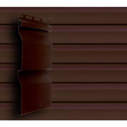 Акриловый сайдинг Темный дуб для обшивки дома
