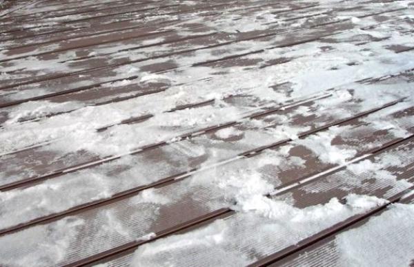 Террасная доска из дпк в зимнее время года
