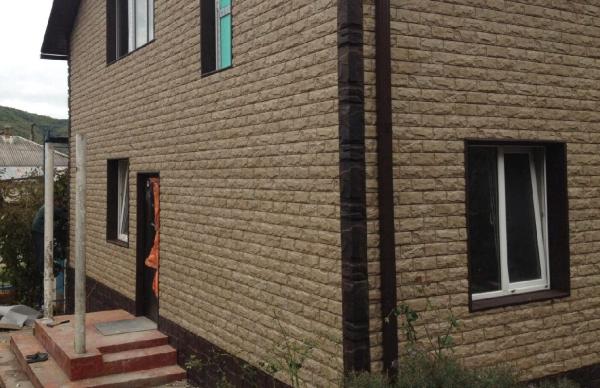 Фасадные панели Кирпич Фагот неотличимы от настоящей кирпичной кладки