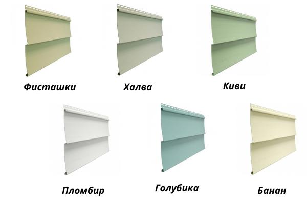 Виниловый сайдинг Docke Standard D5C - цветовая гамма