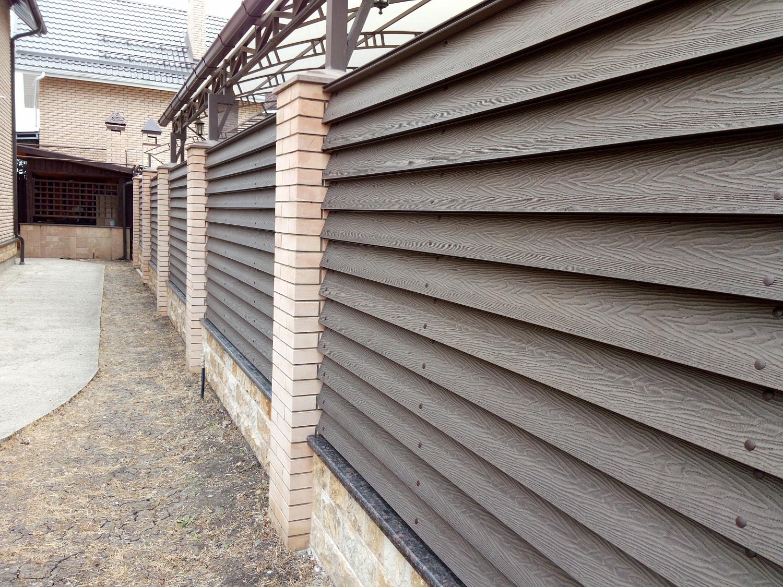 Забор из ДПК доски
